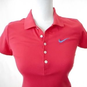 Size S Pink Nike Athletic Sport Polo Dress